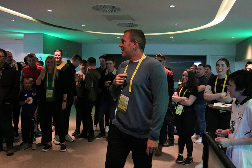 Richard Dunne at the FAI event