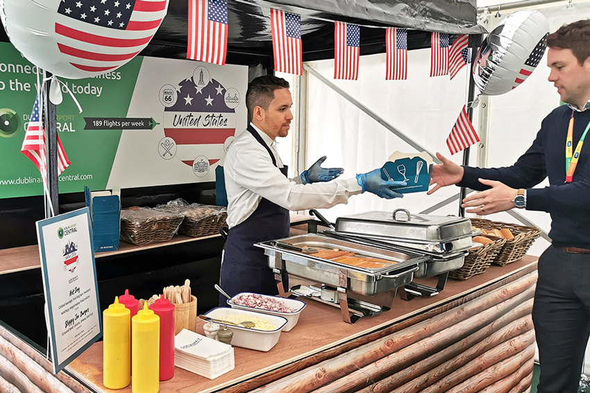 Gourmet Food Parlour at the American stand