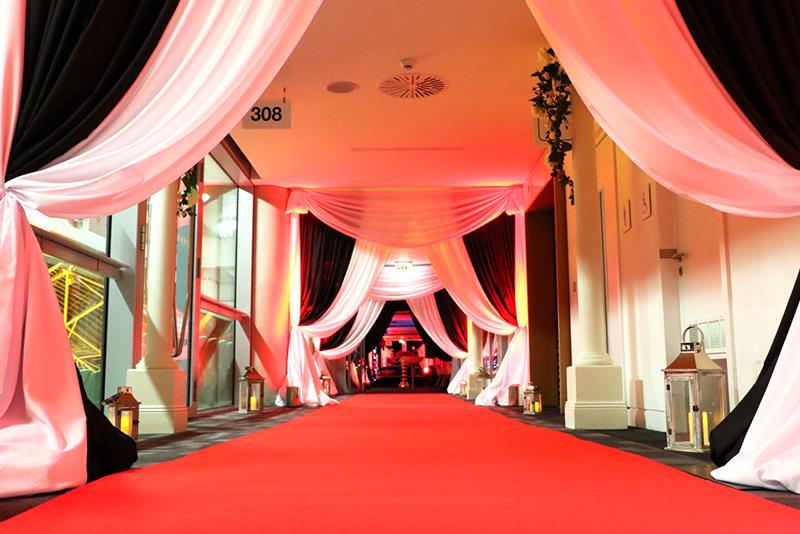 Aviva party hallway