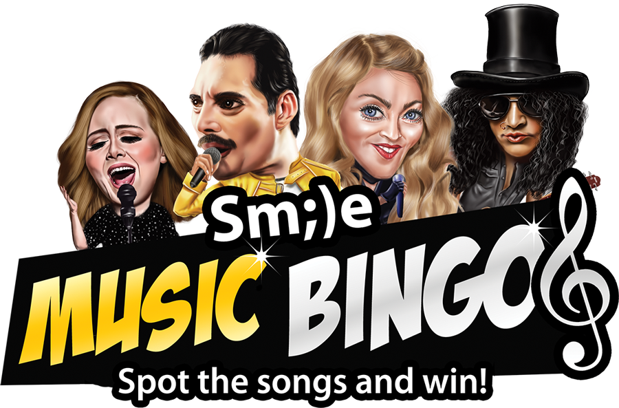 Online music bingo event logo